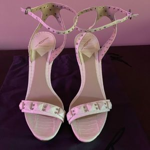 Brian Atwood white sandals size 10 with dust bag